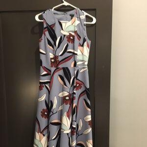 Ann Taylor Fit/Flare Floral Dress - Autumnal, 0